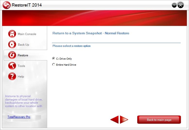 Remoteit - restore to snapshot